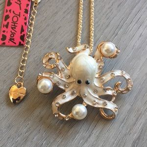 Betsey Johnson Octopus Necklace & Brooch Pin
